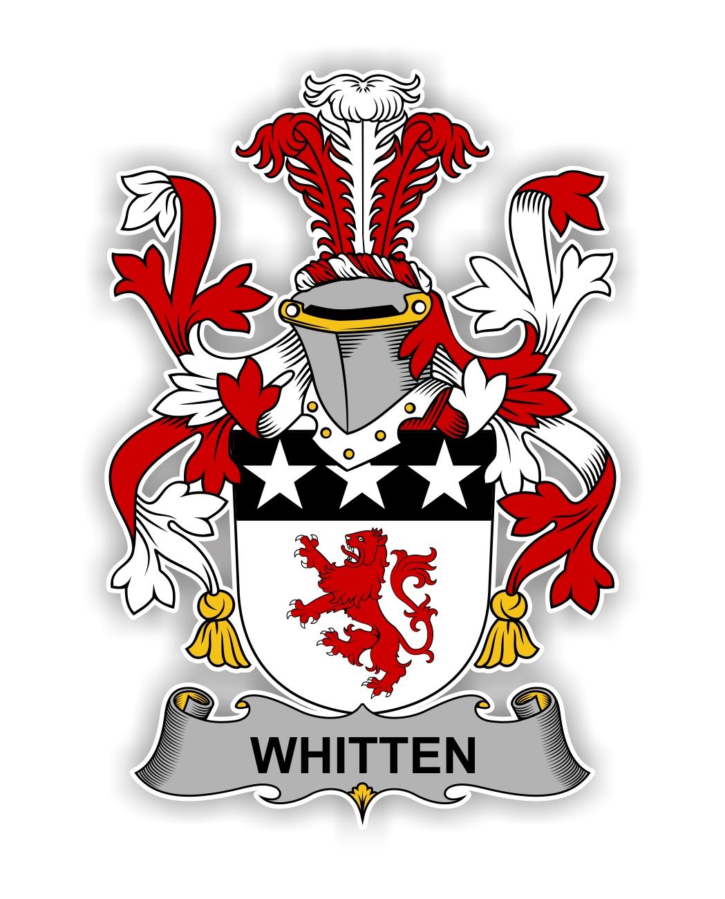 Whitten Family Crest Vinyl Die Cut Decal Sticker 4