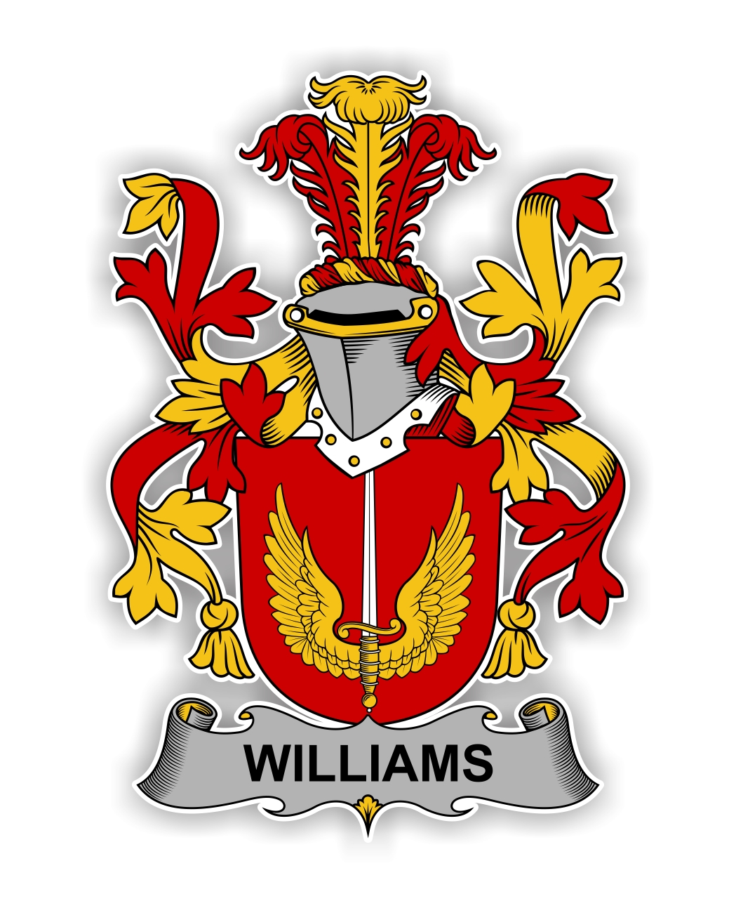 Williams Family Crest Vinyl Die Cut Decal Sticker 4