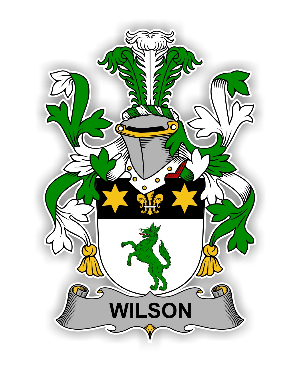 Wilson Family Crest Vinyl Die Cut Decal Sticker 4
