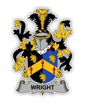 Wright Family  Crest Vinyl Die-Cut Decal / Sticker ** 4 Sizes **