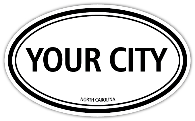 Home decals personalized city decal with state die cut vinyl decal sticker 4 sizes