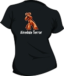 AIREDALE TERR0R Ladies Black T-shirt (Airedale Terrier)