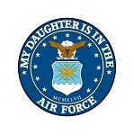 Air Force (Daughter)  Truck Car Window Auto Decal ** 4 Sizes **