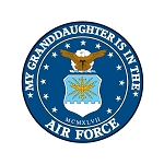 Air Force (Granddaughter)  Truck Car Window Auto Decal ** 4 Sizes **