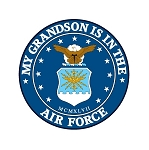 Air Force (Grandson)  Truck Car Window Auto Decal ** 4 Sizes **