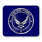 US Air Force Emblem Mouse Pad  9.25