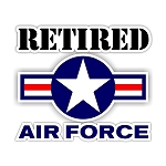 Air Force Retired Die-Cut Decal / Sticker ** 4 Sizes **