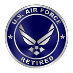 Air Force Retired Emblem Die-Cut Decal / Sticker ** 4 Sizes **