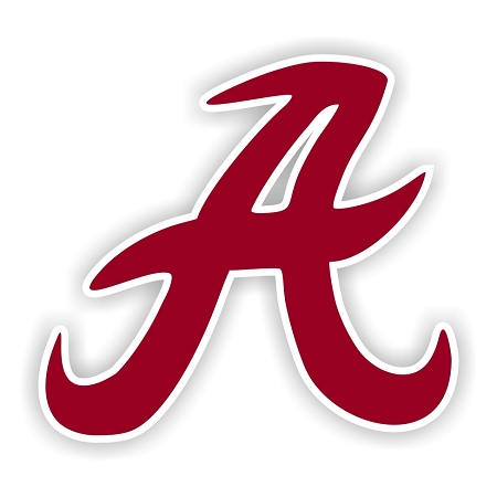 Alabama Crimson Tide A Old Style Die Cut Decal 4 Sizes