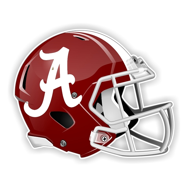 Alabama crimson tide new shape helmet vinyl die cut decal for Alabama football mural