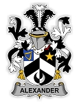 Alexander Family  Crest Vinyl Die-Cut Decal / Sticker ** 4 Sizes **
