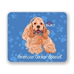 I Love my American Cocker Spaniel Mouse Pad 9.25