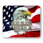 American Eagle (God Bless America) Mouse Pad  9.25
