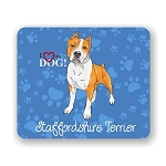 I Love my Staffordshire Terrier Mouse Pad 9.25