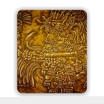 Ancient Mayan Art Mouse Pad 9.25