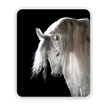 Andalusian Horse Portrait Mouse Pad 9.25