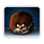 Angry Birds Star Wars  Chewbacca Mouse Pad  9.25