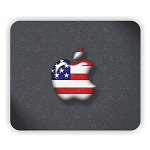 Apple Usa Flag Mouse Pad  9.25