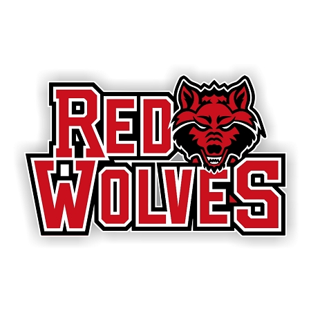 Arkansas State Red Wolves Letters Vinyl Die Cut Decal 4