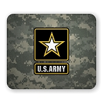 US Army Logo with Camo Back Mouse Pad  9.25