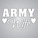 Army Wife Die-Cut Decal / Sticker ** 4 Sizes **