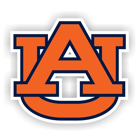 Auburn Tigers B Vinyl Die Cut Decal 4 Sizes