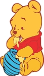 Winnie The Pooh (Baby) Die-cut Vinyl Decal / Sticker ** 4 Sizes **