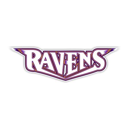 Baltimore Ravens Letters Vinyl Die Cut Decal 4 Sizes