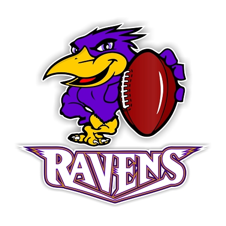 Baltimore Ravens Mascot Letters Vinyl Die Cut Decal 4