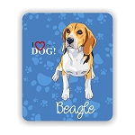I Love my Beagle Mouse Pad 9.25