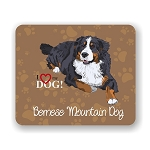 I Love my Bernese Mountain Dog Mouse Pad 9.25