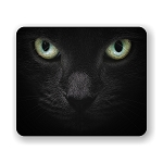 Black Cat Profile Mouse Pad 9.25