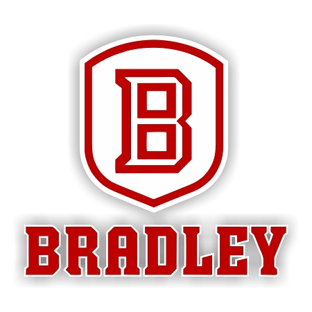 Bradley University Emblem A Die Cut Decal 4 Sizes