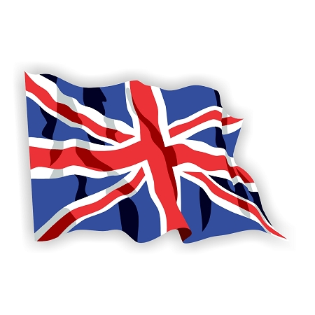 United Kingdom British Flag Waving Vinyl Die Cut Decal