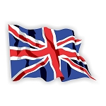 United Kingdom,  British  Flag Waving  Vinyl Die-Cut Decal / Sticker ** 4 Sizes **