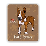 I Love my Bull Terrier Mouse Pad 9.25