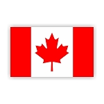 Canada Flag  Vinyl Die-Cut Decal / Sticker ** 4 Sizes **