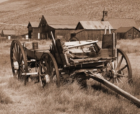 canvas print of bodie wagon on stretch frame 16 x 20. Black Bedroom Furniture Sets. Home Design Ideas