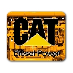 Caterpillar Diesel Power (A) Mouse Pad 9.25