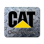 Caterpillar Diesel Power (B) Mouse Pad 9.25