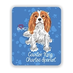 I Love my Caviler King Charles Spaniel Mouse Pad 9.25