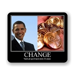 Change Obama Mouse Pad 9.25