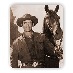 Cheyenne Clint Walker  Photo Mouse Pad  9.25