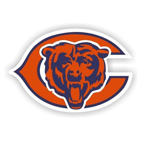 Chicago Bears Bear Head And C Vinyl Die Cut Decal