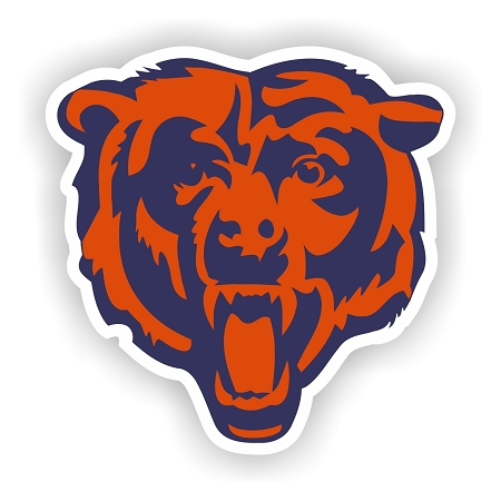 Chicago Bears Quot Bear Head Quot Vinyl Die Cut Decal Sticker