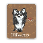 I Love my Chihuahua Mouse Pad 9.25