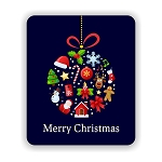 Merry Christmas Mouse Pad 9.25