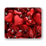 Christmas Red Ornaments Mouse Pad 9.25