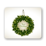 Christmas Wreath  Mouse Pad 9.25