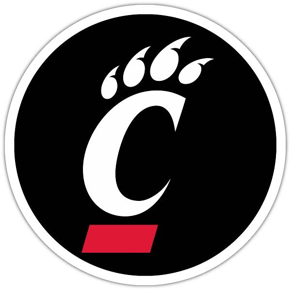 University Of Cincinnati Circle Die Cut Decal 4 Sizes